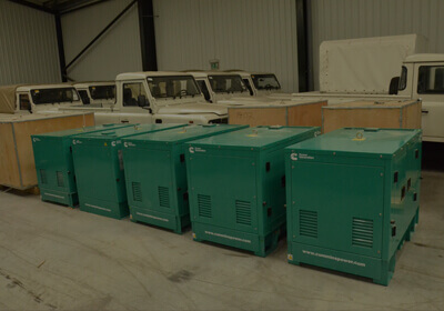 Generators Shipping to Indian subcontinent
